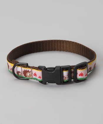 Pink Hedgehog Dog Collar