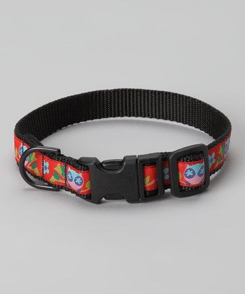Red Owl Dog Collar
