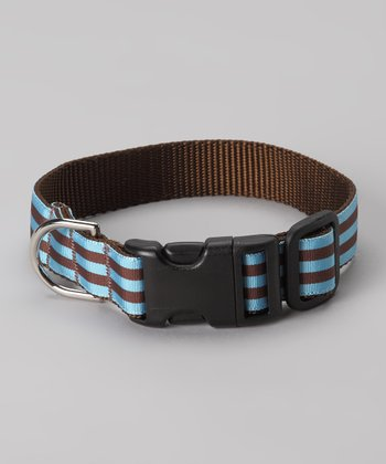 Blue Cabana Dog Collar