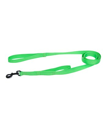 Max & Zoey Electric Lime Double-Handle Dog Leash
