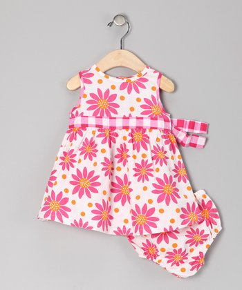 Hot Pink Floral Dress - Infant & Toddler