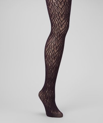 Black & Blackberry Glacier Net Tights