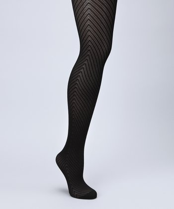 Black Fleece Chevron Tights - Plus