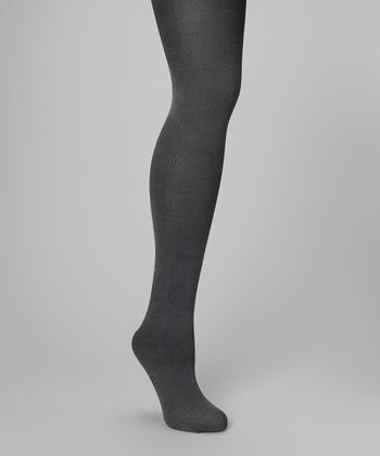 Black Denim Tights - Women