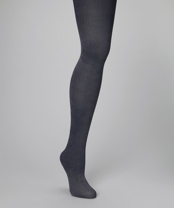 Navy Denim Tights - Women