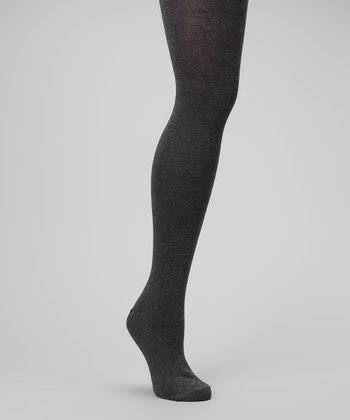 Dark Gray Heather Sweater-Knit Tights - Plus