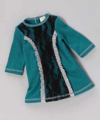 Jade Lace Ruffle Doll Outfit