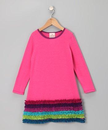 Fuchsia Ruffle Dress - Toddler & Girls