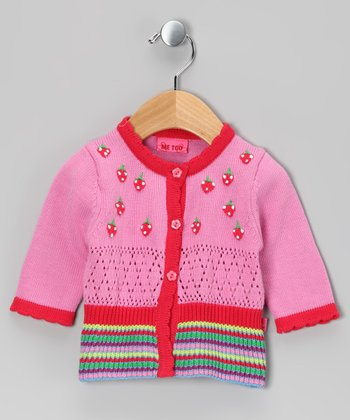 Fuchsia Pink Pan Cardigan - Infant