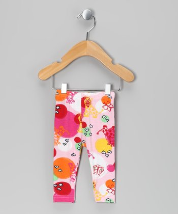 Fuchsia & Purple Tika Leggings - Infant