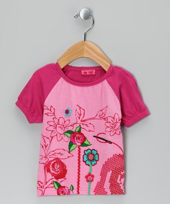 Fuchsia Pink Osa Raglan Tee - Infant, Toddler & Girls