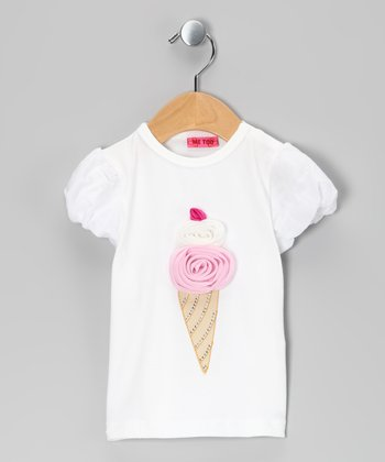 Bright White Sabine Tee - Infant & Toddler