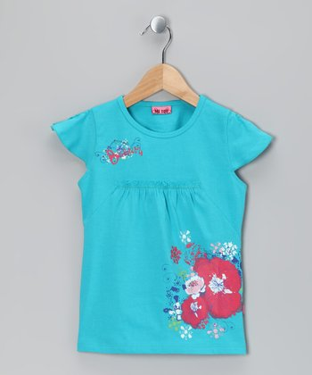 Scuba Blue Seira Tunic - Toddler & Girls