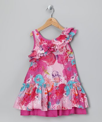 Almond Blossom Sadia Dress - Toddler & Girls