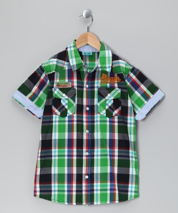 Dress Blue Sigurd Button-Up - Boys