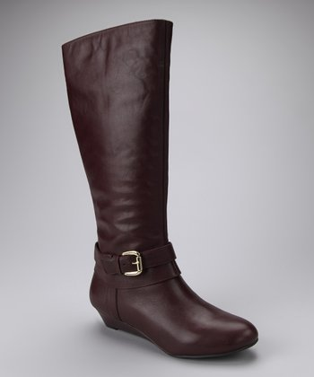 Pinot Noir Dream Vacchetta Capri Wedge Boot