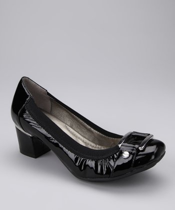 Black Patent Pearl Pump