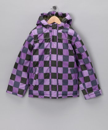 Hyper Rakel Bam Checkerboard Hooded Jacket - Toddler & Girls