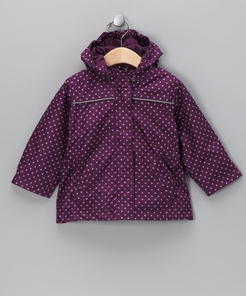 Purple Polka Dot Raincoat - Toddler