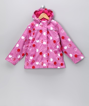Fuchsia Pink Polka Dot Raincoat - Toddler & Kids