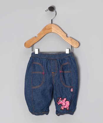 Denim Baby Hu Cotton Lined Pants - Infant