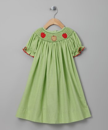 Green Apple Gingham Bishop Dress - Infant & Toddler
