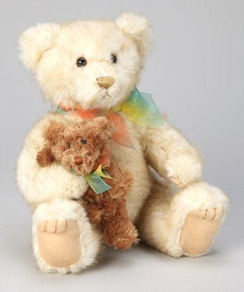 Cream & Puff Mother & Baby Bear Plush Toy