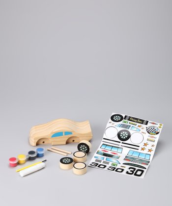 Decorate Your Own Wooden Racecar