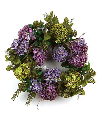 Purple & Green Hydrangea Berry Wreath
