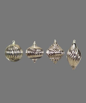 Silver Vintage Ornament Set