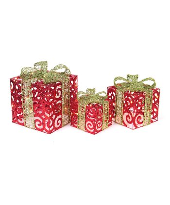 Red & Green Scrolling Gift Box Set