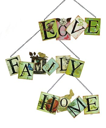Sentimental Saying Wall Plaque Set