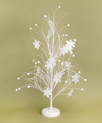 White Snowflake Tabletop Tree