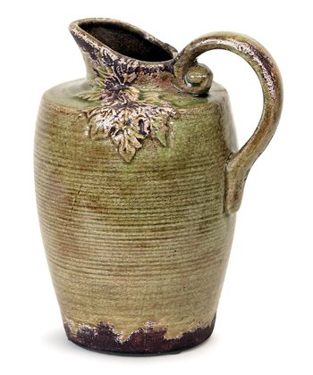 Green & Brown Leaf Pitcher