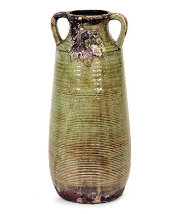 Green & Brown Leaf Vase