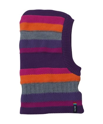 Fuchsia & Orange Stripe Balaclava