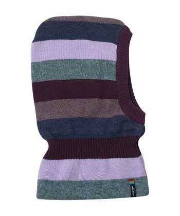 Purple Stripe Wool-Blend Balaclava