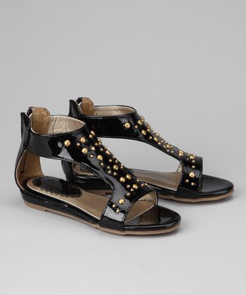 Black Dottie Sandal