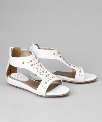White Dottie Sandal