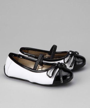 Black & White Lil Chanel Ballet Flat