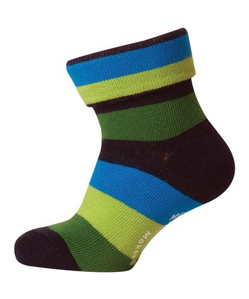 Blue & Green Stripe Sock