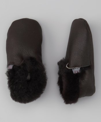 Melton Baby Brown Booties