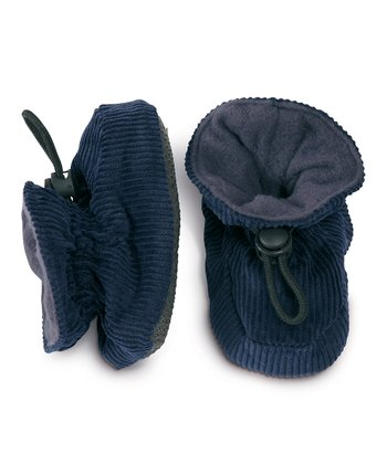 Dark Blue Corduroy Booties