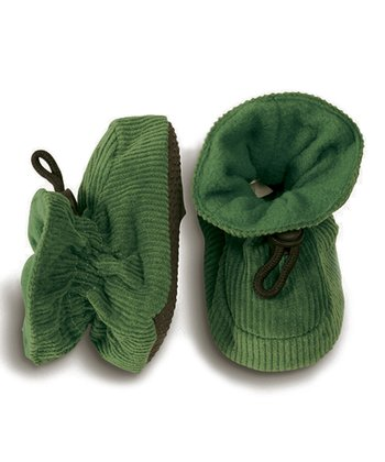 Melton Baby Green Corduroy Booties