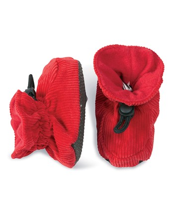 Red Corduroy Booties