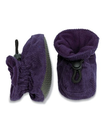Dark Purple Corduroy Booties