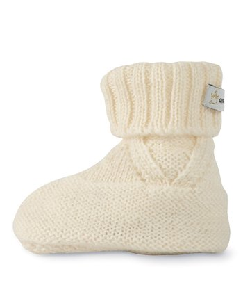 Ivory Sweater Booties
