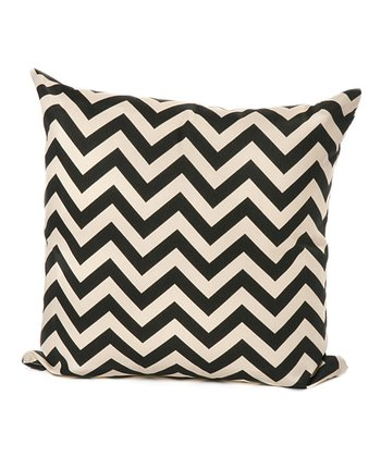 Ebony Zigzag Throw Pillow