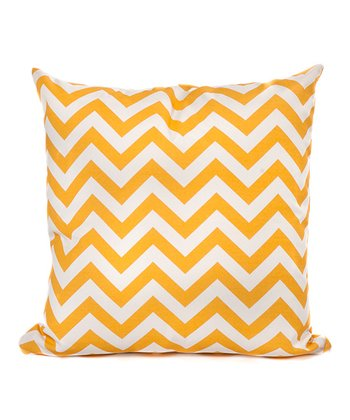 Yellow Zigzag Throw Pillow