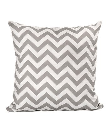 Gray Zigzag Throw Pillow
